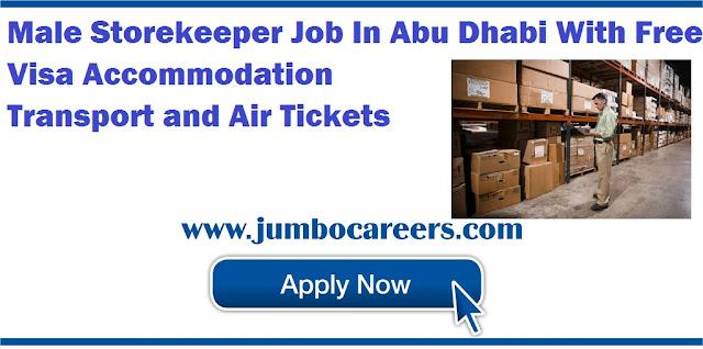 Male Storekeeper Job