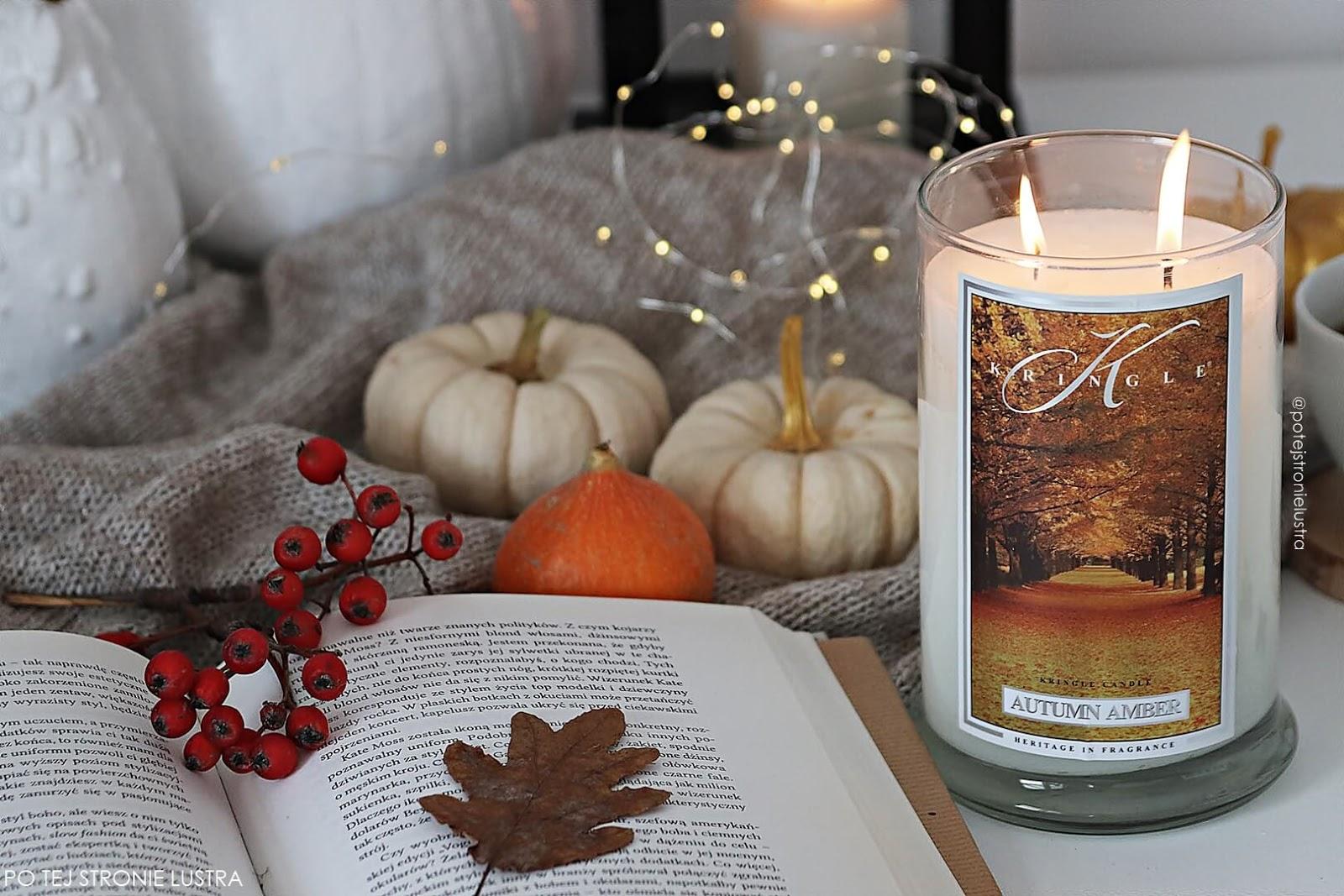 kringle candle autumn amber duża świeca zapachowa