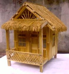 kerajinan miniatur rumah dari bungkus rokok