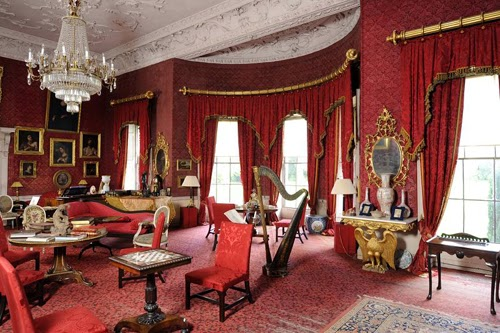 salón rojo, antiguo