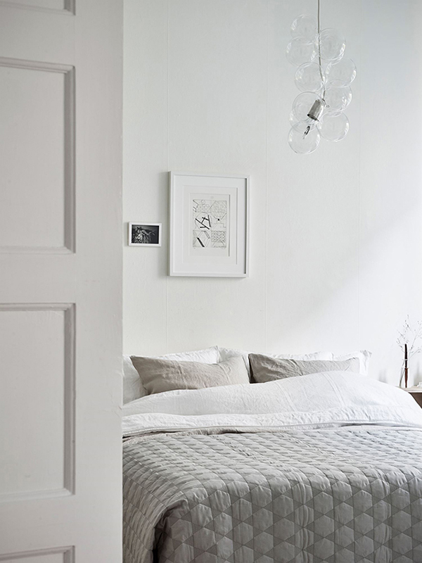 Scandinavian bedroom via kvarteret makleri