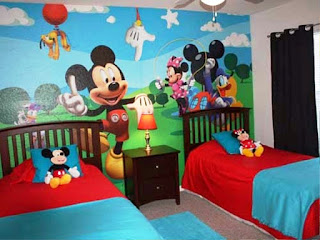 Gambar Wallpaper Dinding Untuk Kamar Anak Mickey Mouse