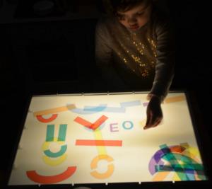 plantilla imprimir y descargar mesa de luz letras lectoescritura