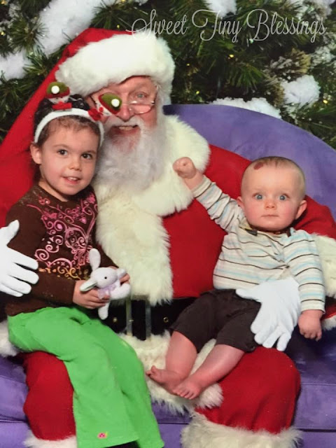 Silly Santa Photo