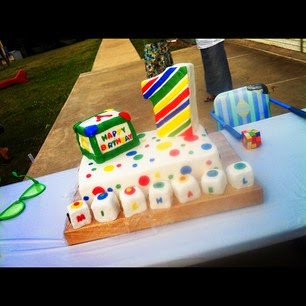 Michael Duggar first birthday cake