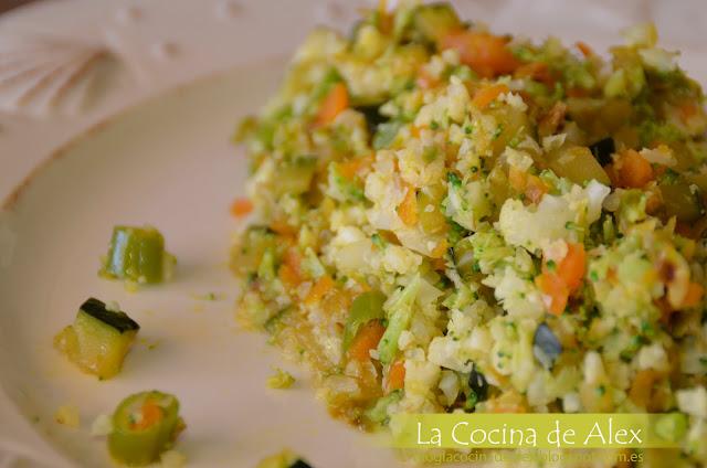 """""""cous Cous Vegetal"""" De Coliflor Y Brocoli"""