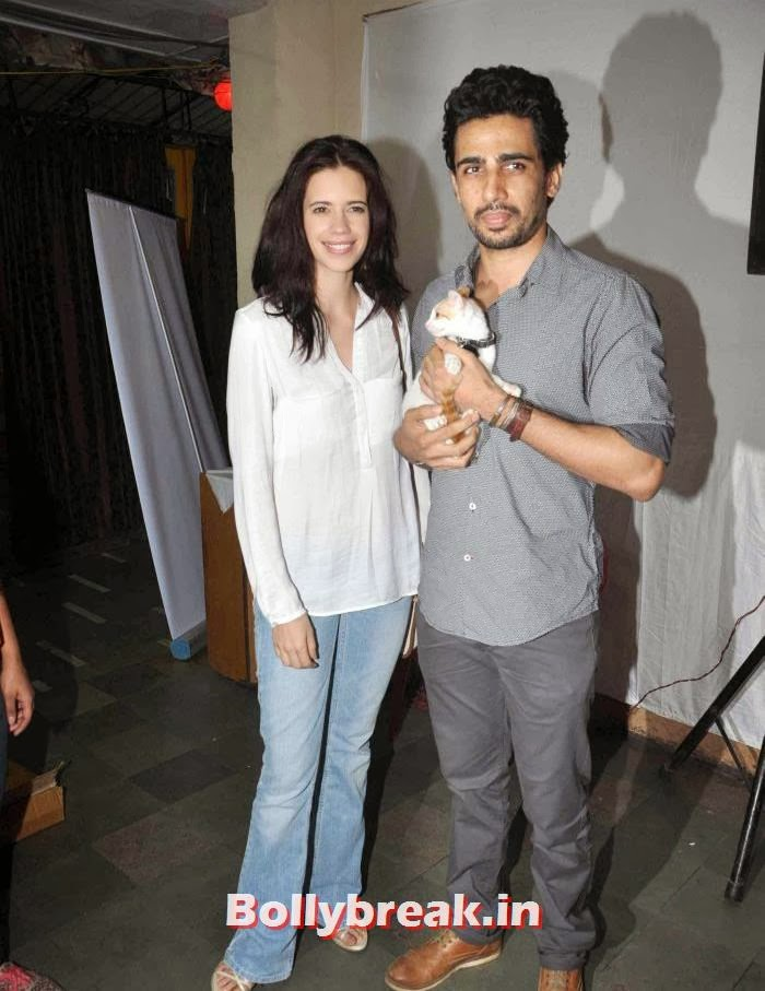 Kalki Koechlin, Gulshan Devaiah, Sonali Bendre, Kalki Koechlin at Pet Adoption 2013
