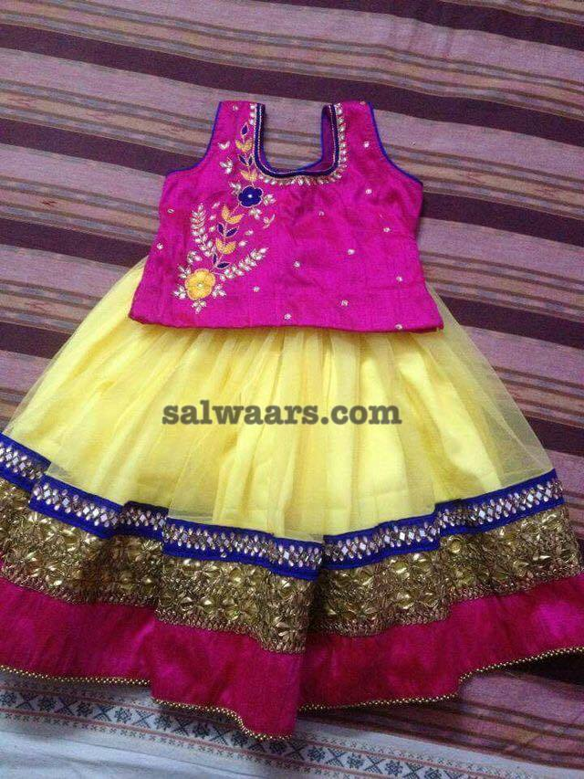 Kids lehenga Simple work Blouse