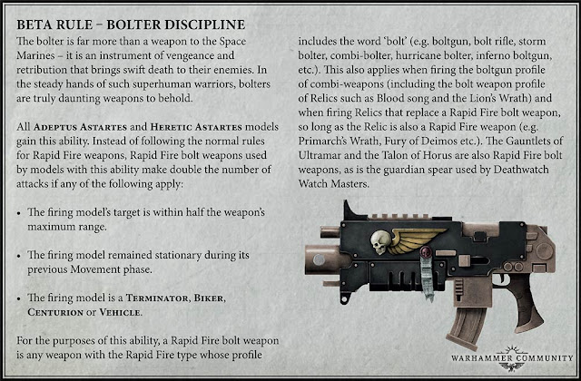 Bolter Disciplina Beta Rule for Adeptus Astartes and Heretic Astartes