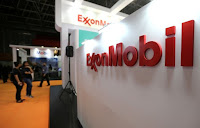 A logo of the Exxon Mobil Corp is seen at the Rio Oil and Gas Expo and Conference in Rio de Janeiro, Brazil September 24, 2018. (Credit: Reuters/Sergio Moraes) Click to Enlarge.