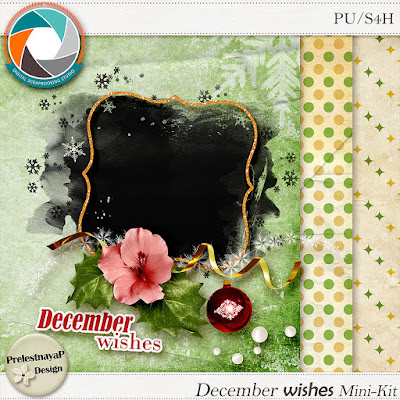 Christmas Carol Blog Train - new FREE Mini-Kit December wishes