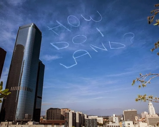 Funny Plane How Do I Land Skywriting Sign Picture