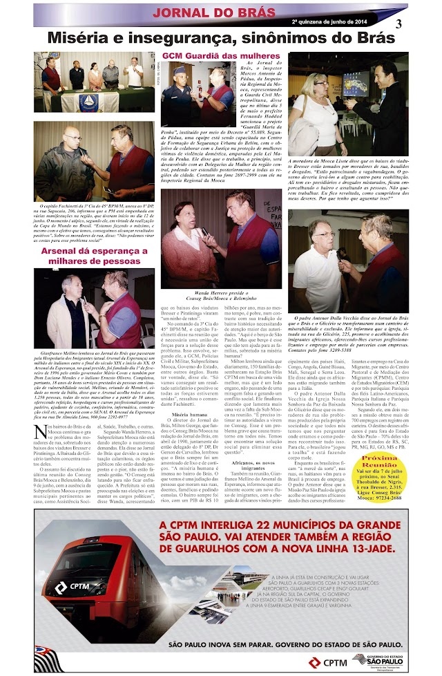 Destaques da Ed. 251 - Jornal do Brás