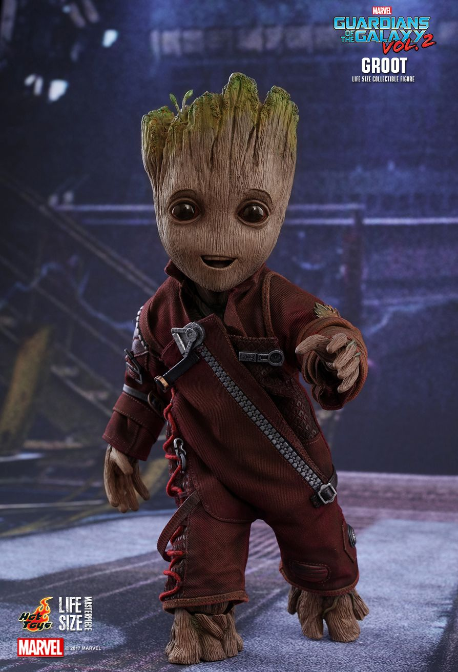 """Hot Toys 1//6 Scale Guardians of the Galaxy Groot Hands Model for 12/"""" Figure"""