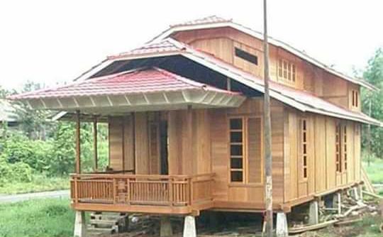 rumah kayu dari jari