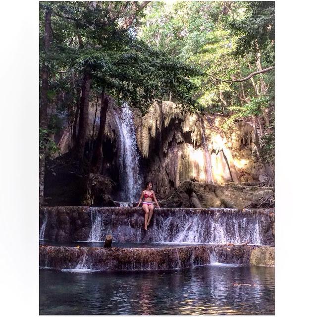foto air terjun mata jitu lady diana di pulau moyo