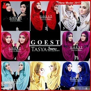 RYB036B Hijab Tasya Cantik Iners Murah  BMG Online Shop