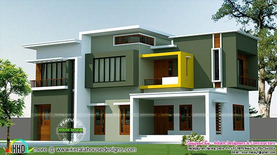 Box model contemporary house 2500 sq-ft