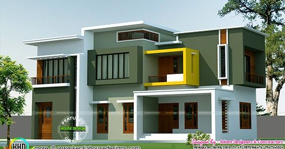 Tiny Home Designs: Box Model Contemporary House 2500 Sq-ft