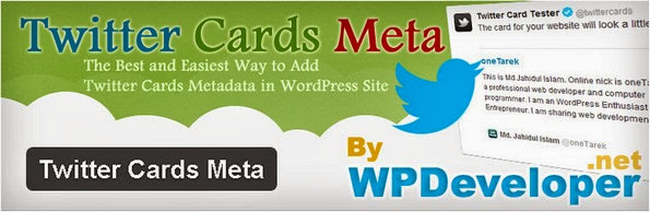 Twitter Cards Meta Plugin