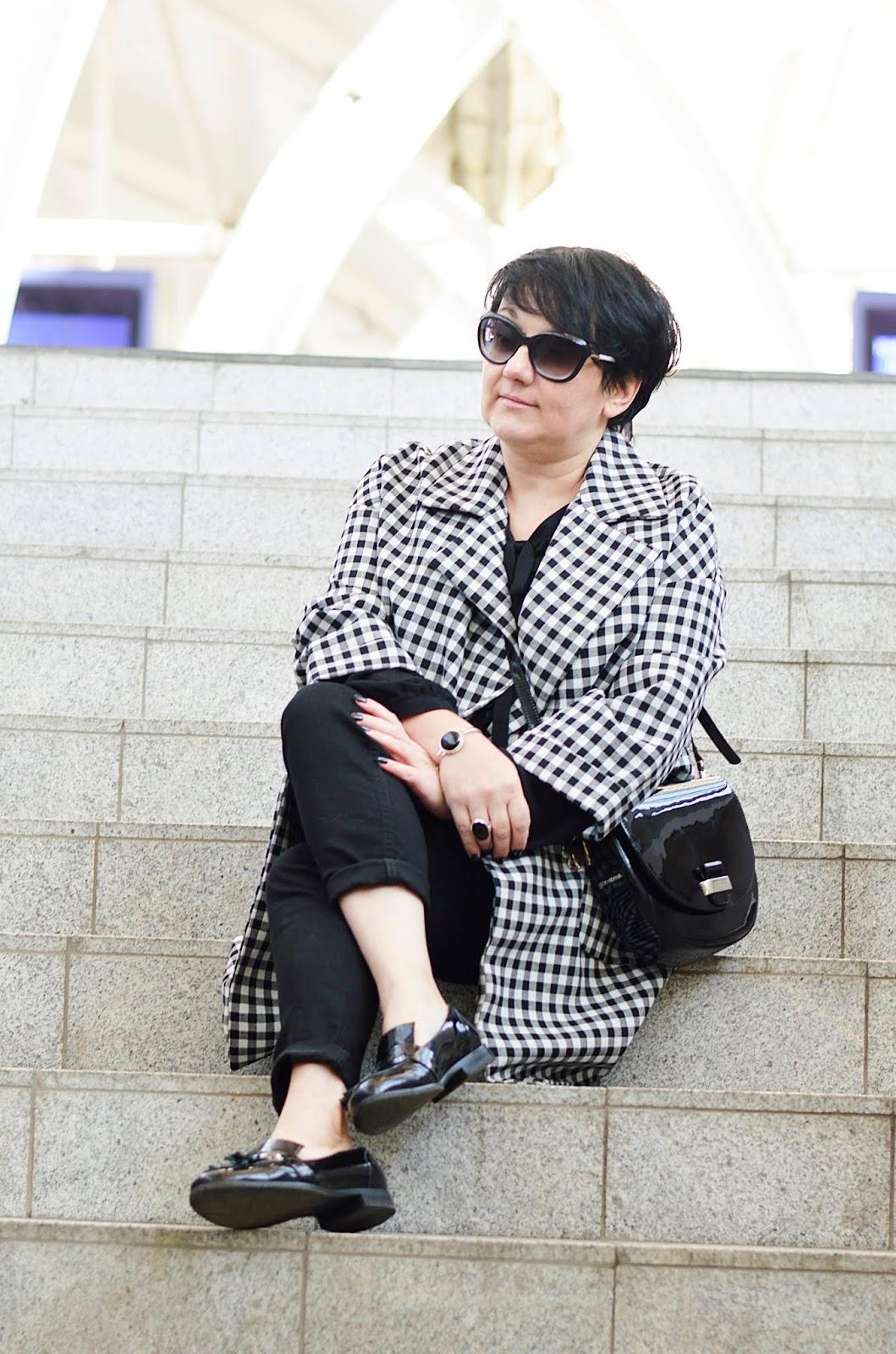 Płaszcz w kratę Zara, Zara coat