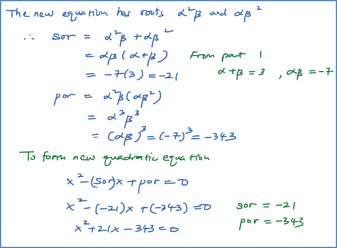 Roots Of Quadratic Equation Alpha Beta Calculator