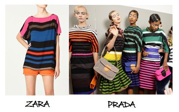 Clones 2011 camiseta rayas Prada Zara