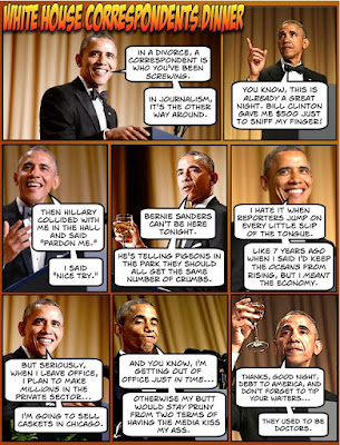 obama, obama jokes, political, humor, cartoon, conservative, hope n' change, hope and change, stilton jarlsberg, correspondents dinner, 2016, roast, comedy, niggah