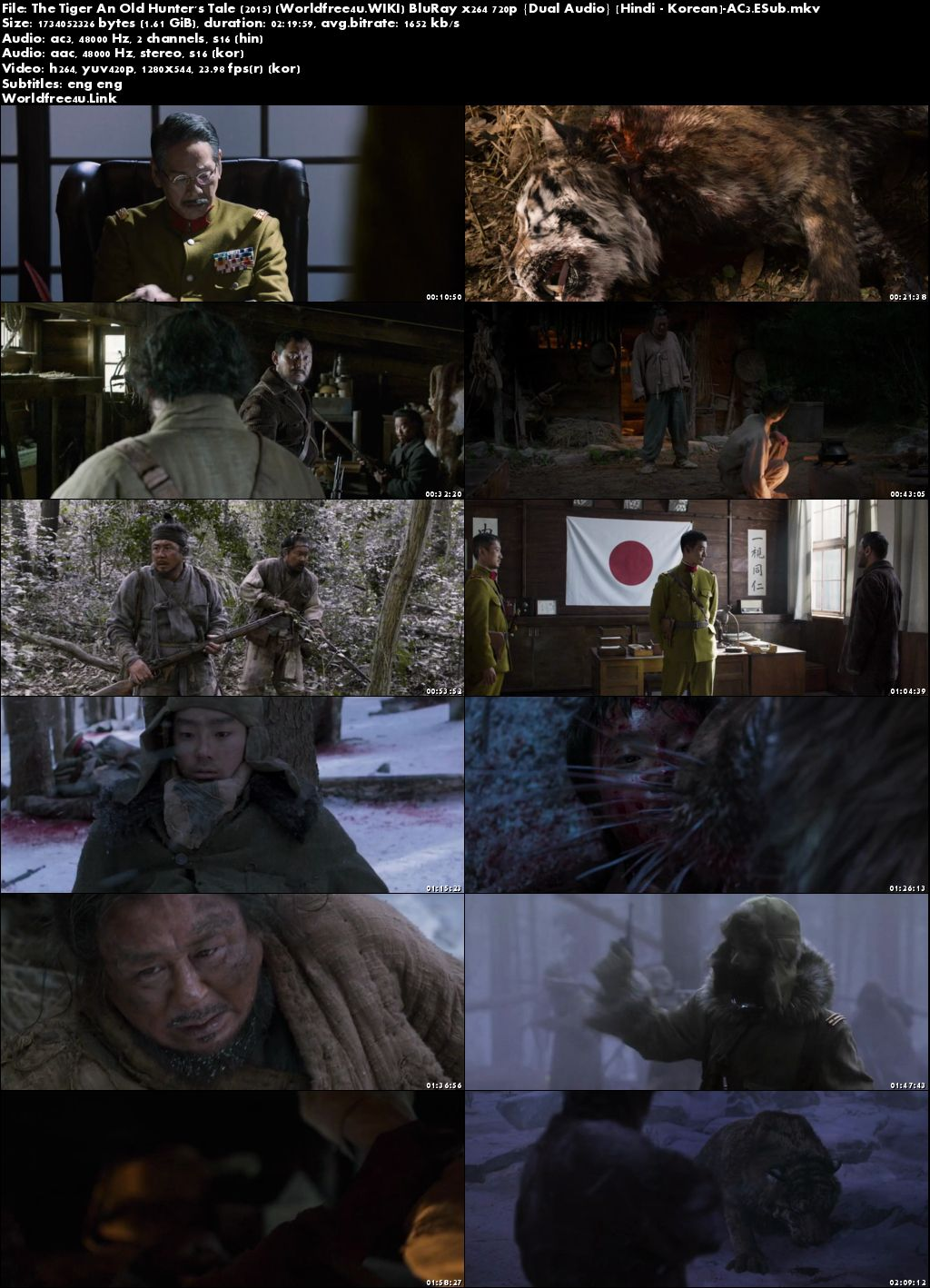 Screen shoot of The Tiger An Old Hunter's Tale 2015 BRRip 720p Dual Audio Hindi English, Hindi Dubbed Movie Download Watch Online in Hd