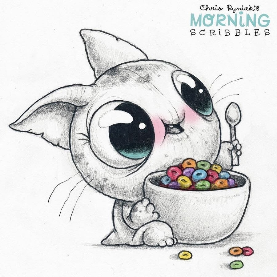 05-Cereal-Bowl-Sunday-Chris-Ryniak-Cute-Creatures-www-designstack-co