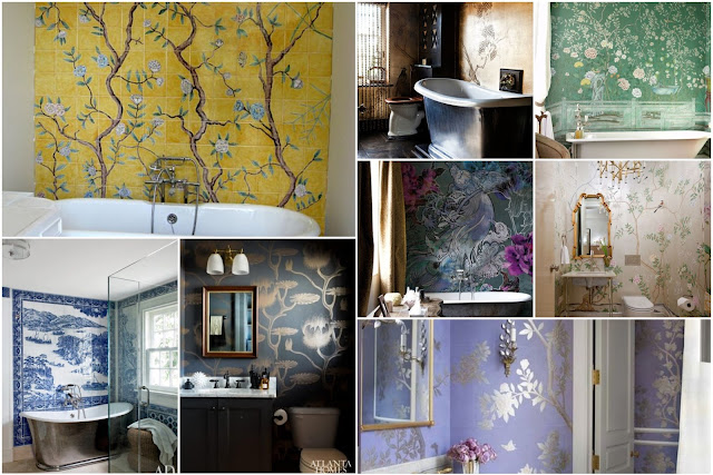 Chinese-style Elegant Bathrooms Walls