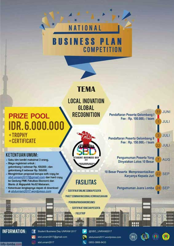 how to organize a business plan competition