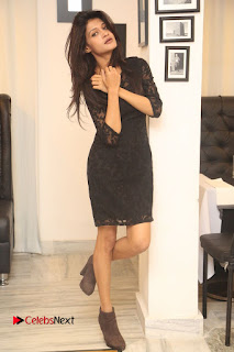 Kimaya Phtoos in Black Short Dress at Kotha Kothaga Unnadi Press Meet ~ Celebs Next