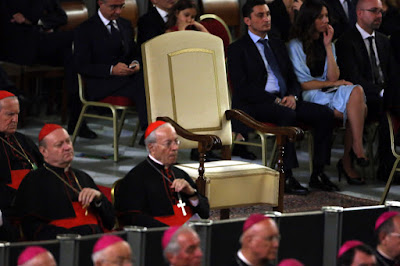the Pope's empty chair
