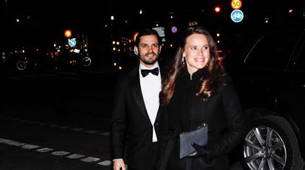 Prince Carl Philip of Sweden and Princess Sofia Hellqvist of Sweden attended a charity dinner in honor of Project Playground in Stockholm
