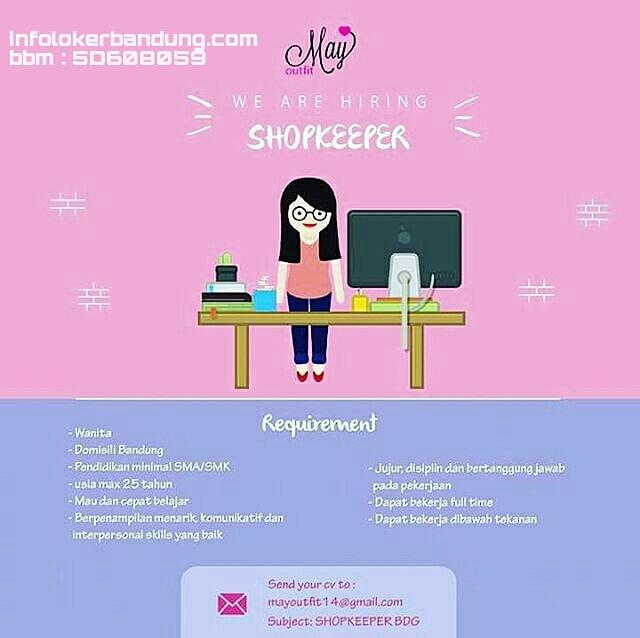 Lowongan Kerja Shopkeeper