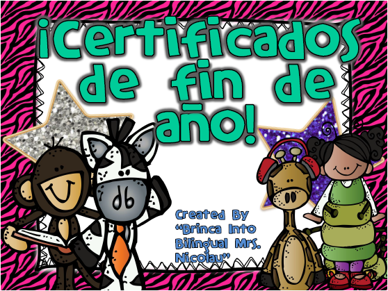 http://www.teacherspayteachers.com/Product/Salvajes-Certificados-para-final-del-ano-Editable-1256577