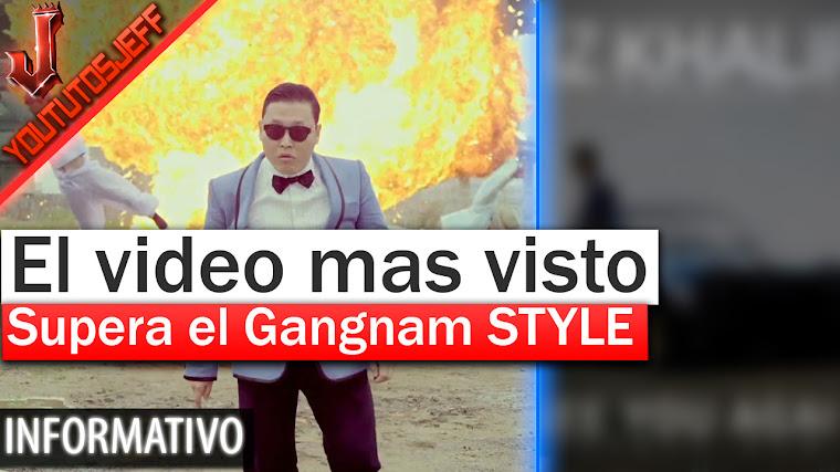 Este es el nuevo vídeo mas visto en Youtube - Supera el Gangnam STYLE
