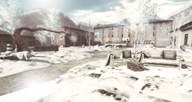 Quiet snow city