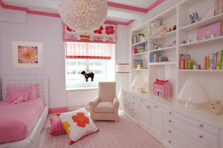 cuarto rosa blanco niña