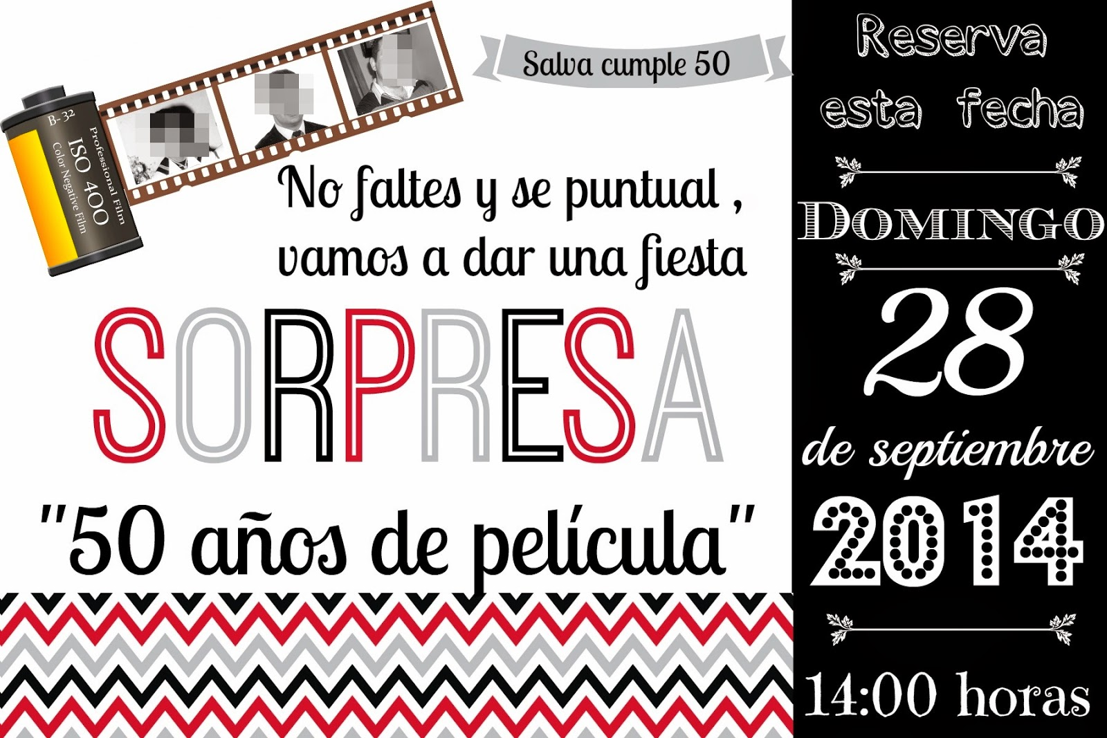 Invitaciones Para Fiesta Sorpresa 50 Anos
