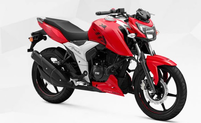 New 2018 TVS Apache RTR 160 4V Red color