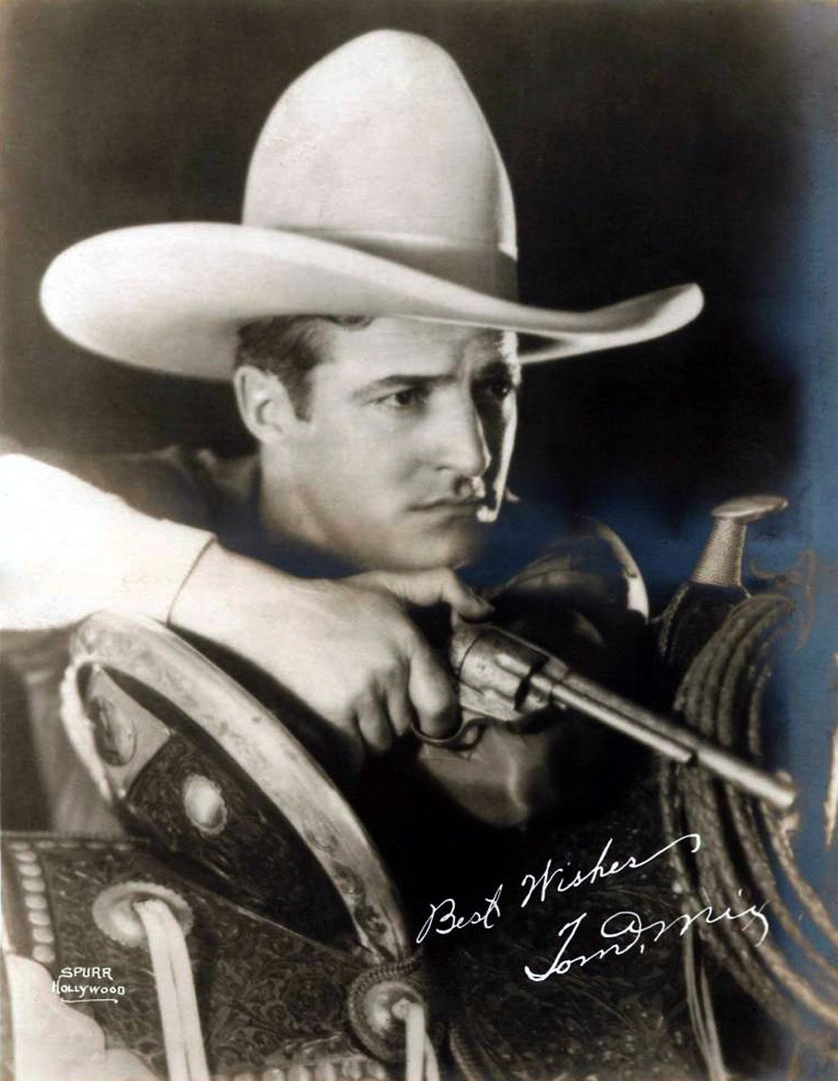 8530d542 The highest paid Star at Fox... until Talkies made Tom Mix' future  uncertain.