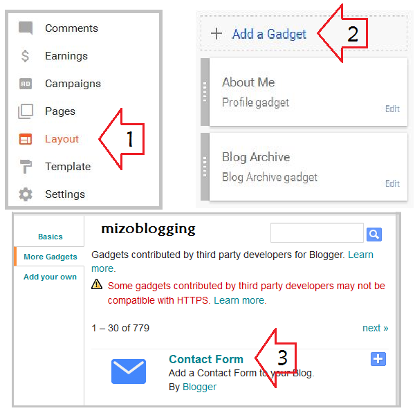 blogger contact form widget siam dan