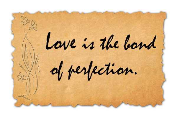 Love is the bond of perfection
