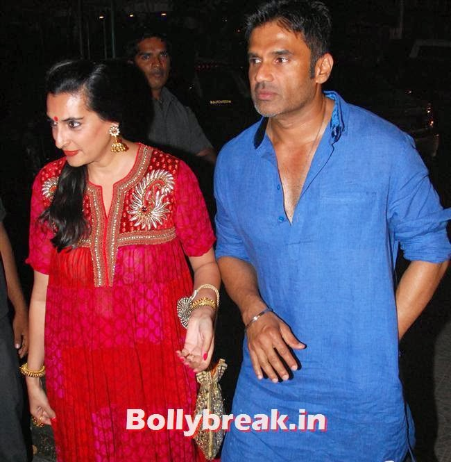 Mana Shetty and Sunil Shetty, Sohail Khan Diwali Bash