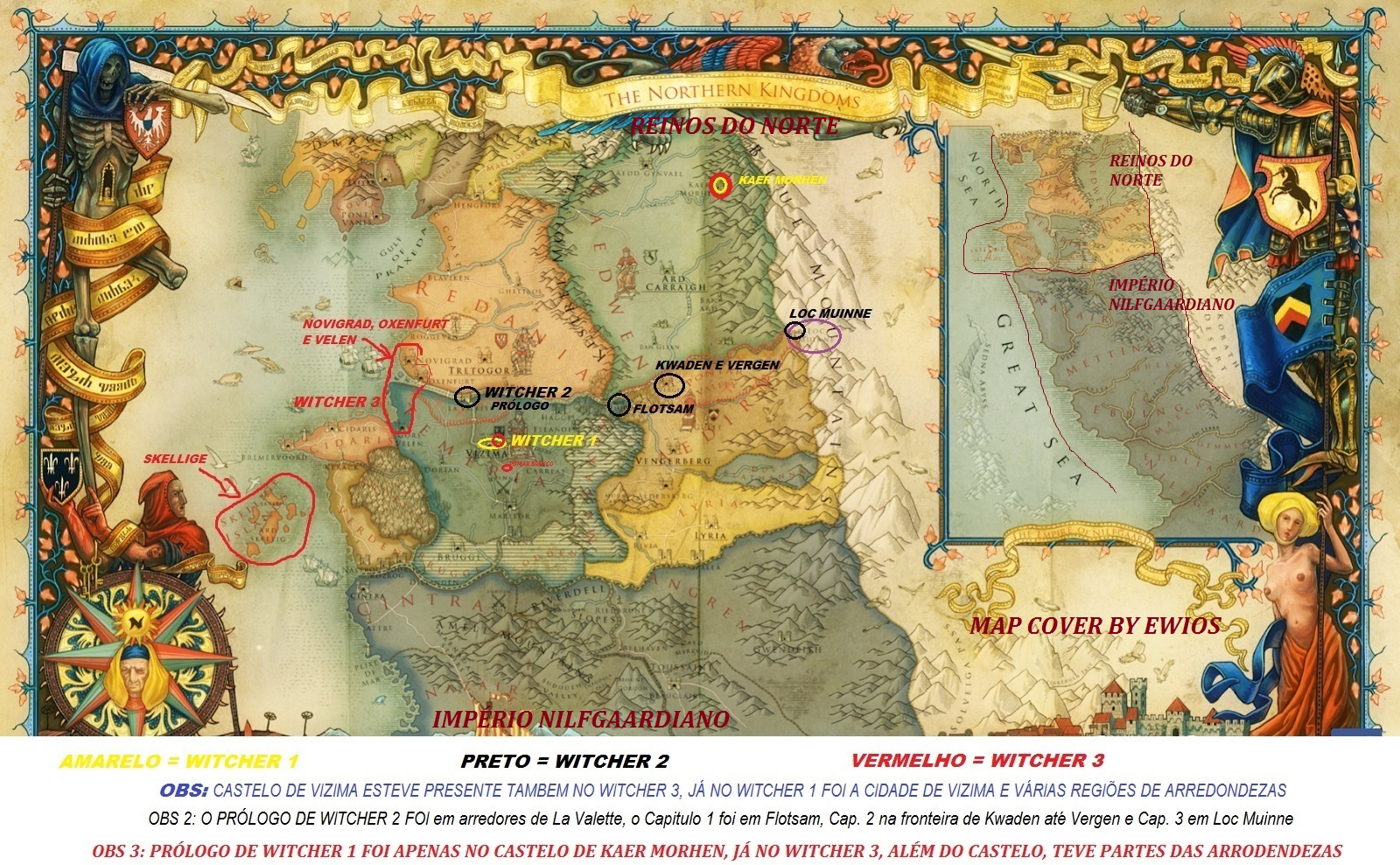 Mapa The Witcher 2.Cd Projekt Red Fans A Geografia Da Saga The Witcher Mapa