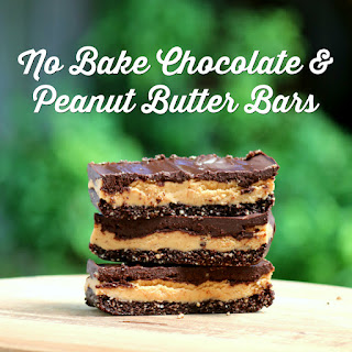 Healthy No Bake Chocolate and Peanut Butter Bars Recipe