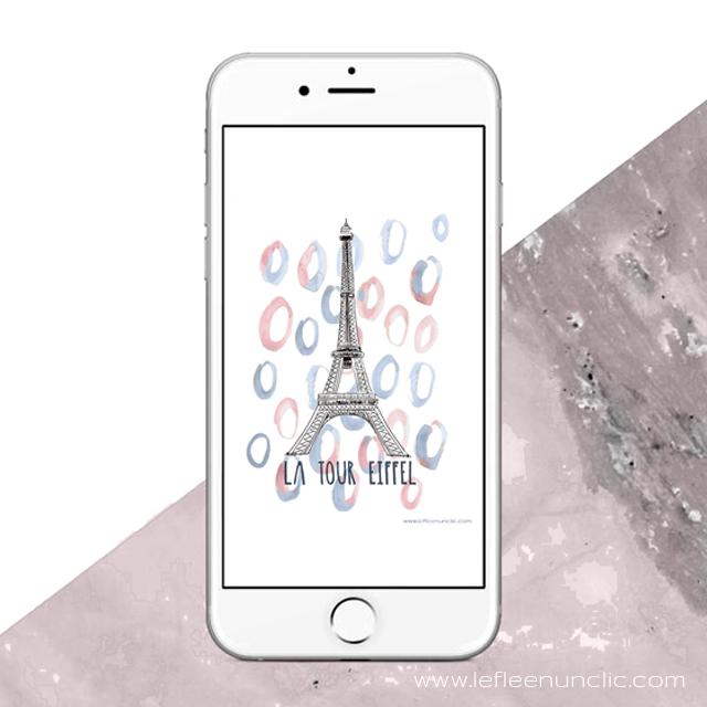 La tour Eiffel, monument français, fond d'écran, FLE, le FLE en un 'clic'