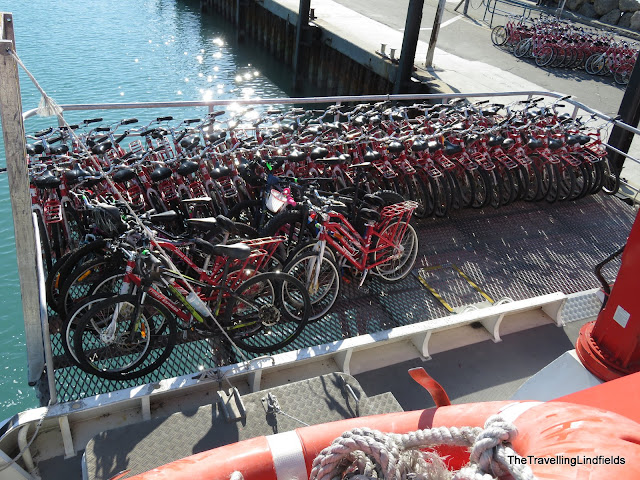 Bikes on the Rottnest Island ferry.